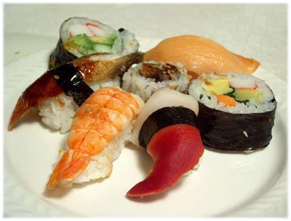 Le Sushi, le plat traditionnel du Japon, les differents types.