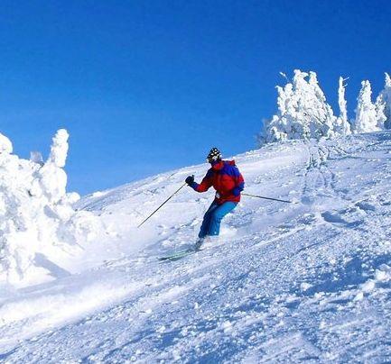 Faire du ski à Hokkaido dans le nord du Japon