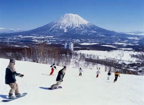 Japon ski station neige
